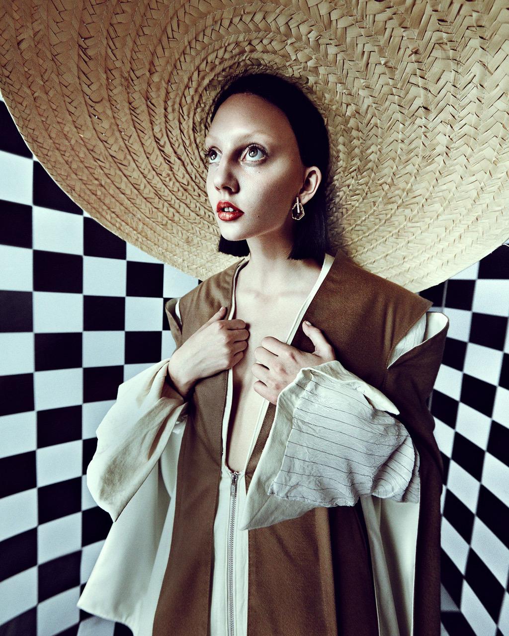 Maison the Faux suit, Mina Ro Mina earrings, hat stylist's own